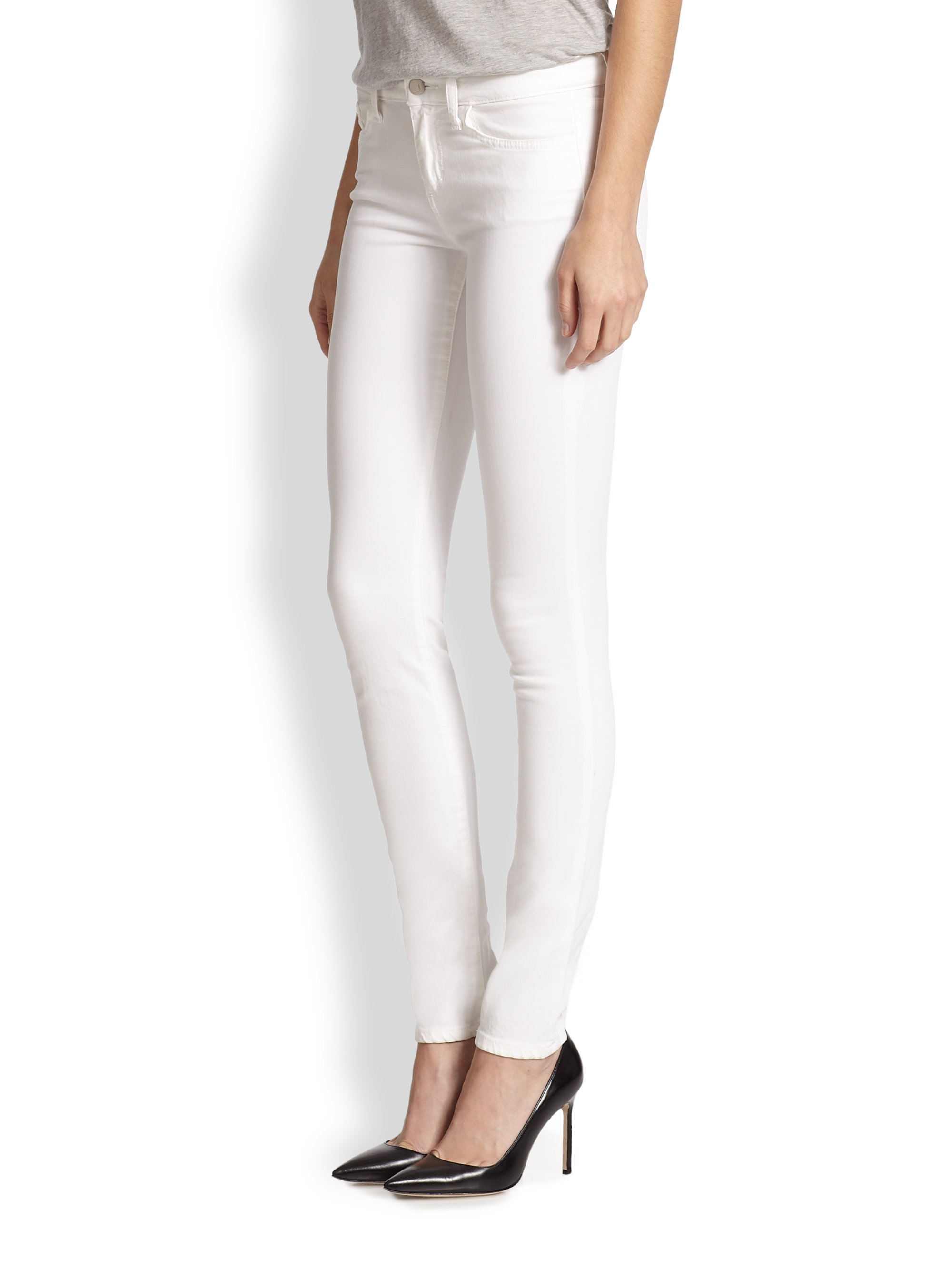 Joe's jeans Annie Stay Spotless Skinny Jeans in White | Lyst