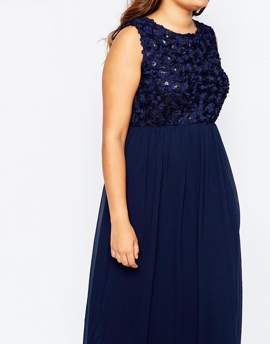 Plus size navy blue maxi dress