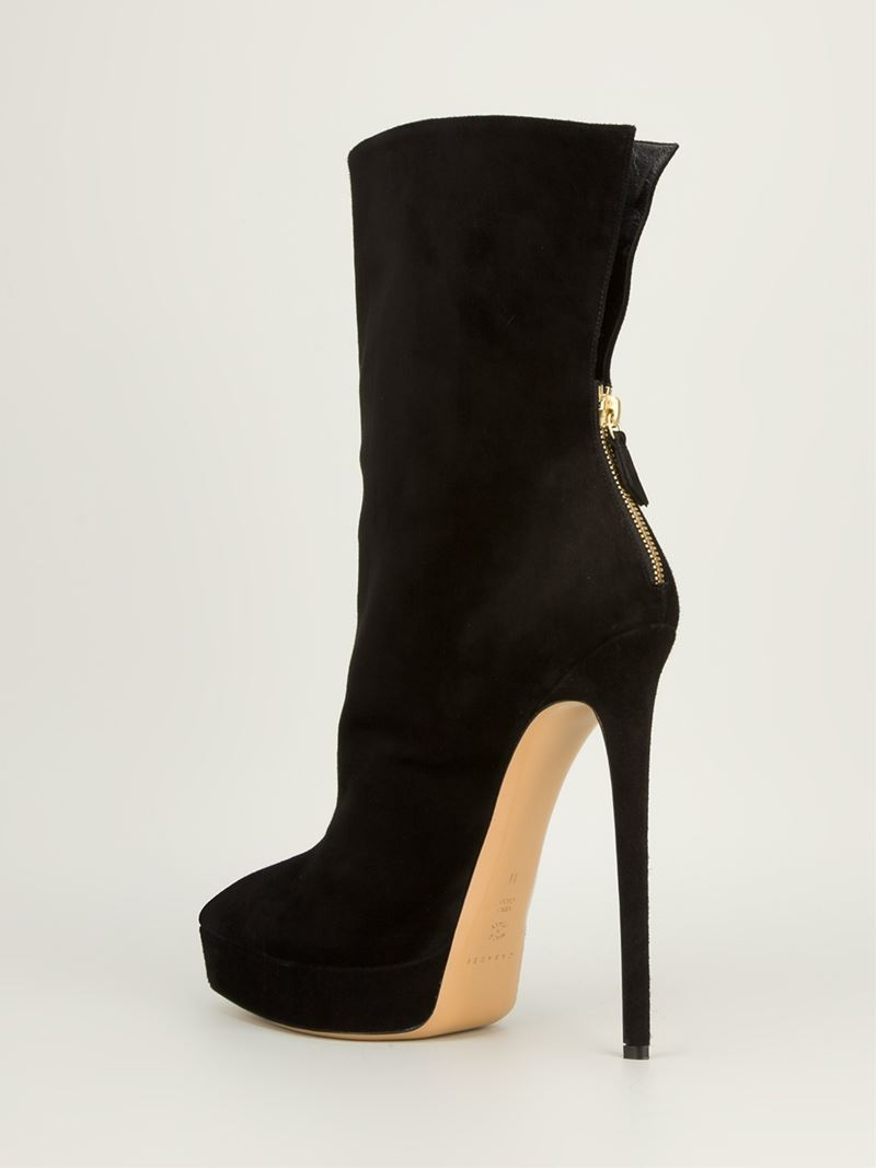 Stiletto In Boot Casadei Ankle Lyst Black 61dxCxw