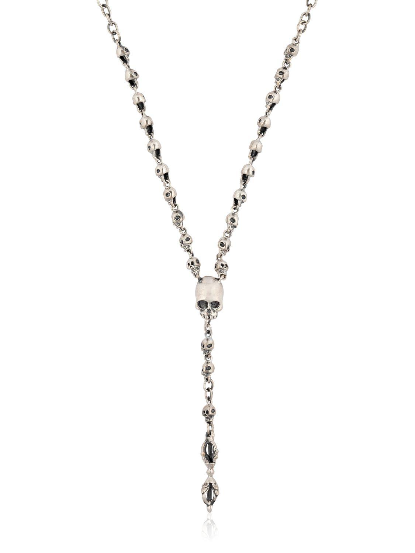 Lyst Jade Jagger Small Skull Rosary Necklace In Metallic