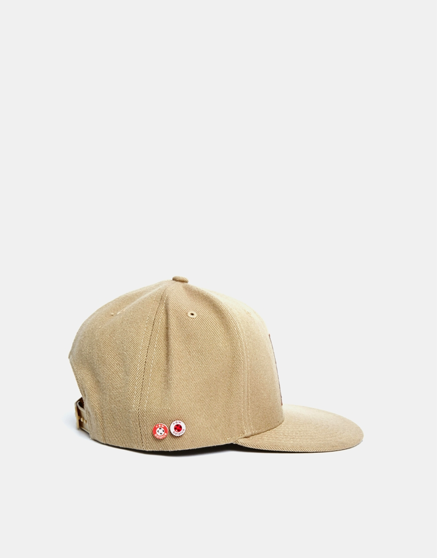 new balance snapback cap in brown for men lyst. Black Bedroom Furniture Sets. Home Design Ideas