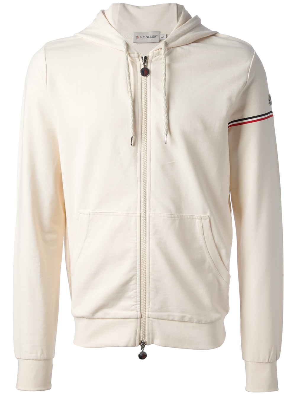 Lyst Moncler Zip Fastening Hoodie In White For Men