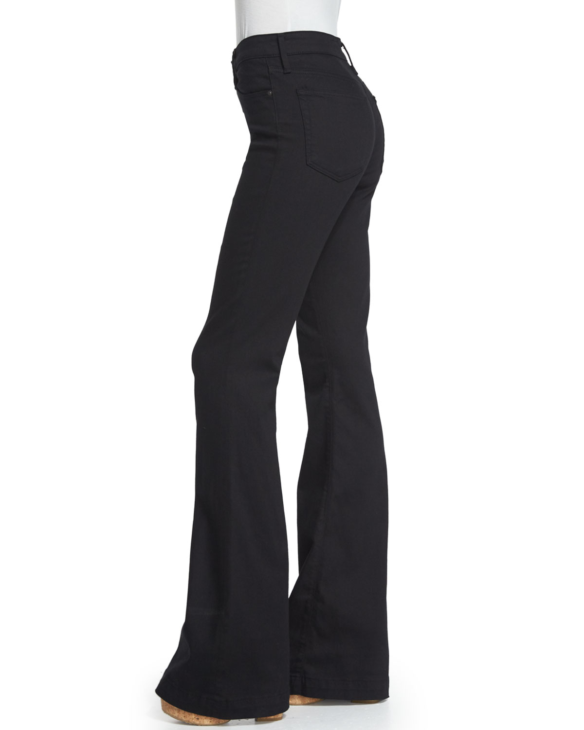 Ag jeans Janis High-waist Super-flare Jeans in Black | Lyst