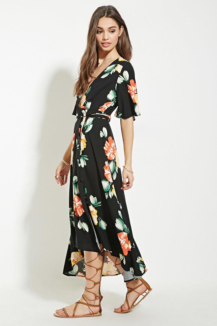 f512df5b20fe Floral Wrap Maxi Dress Forever 21