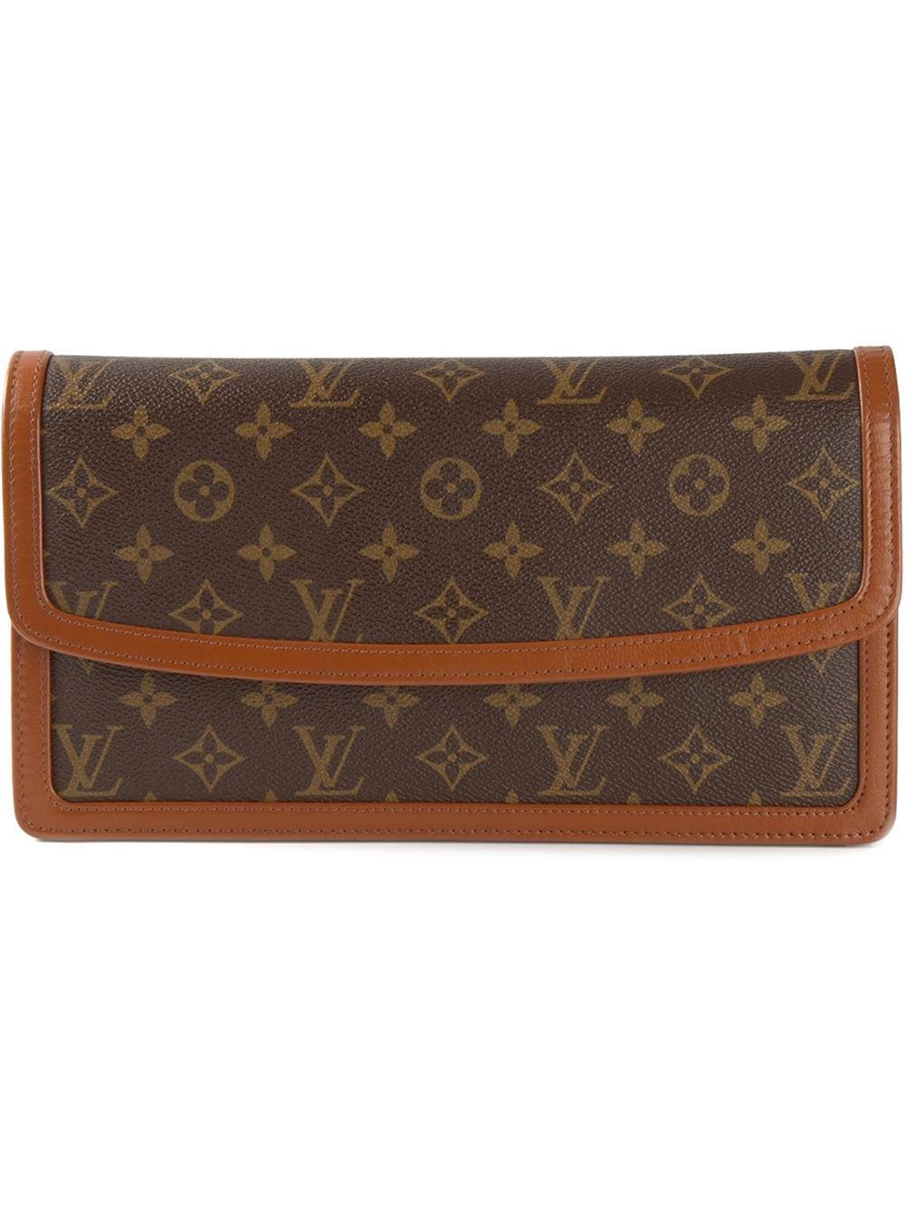 Louis Vuitton Dame Gm Clutch In Brown Lyst