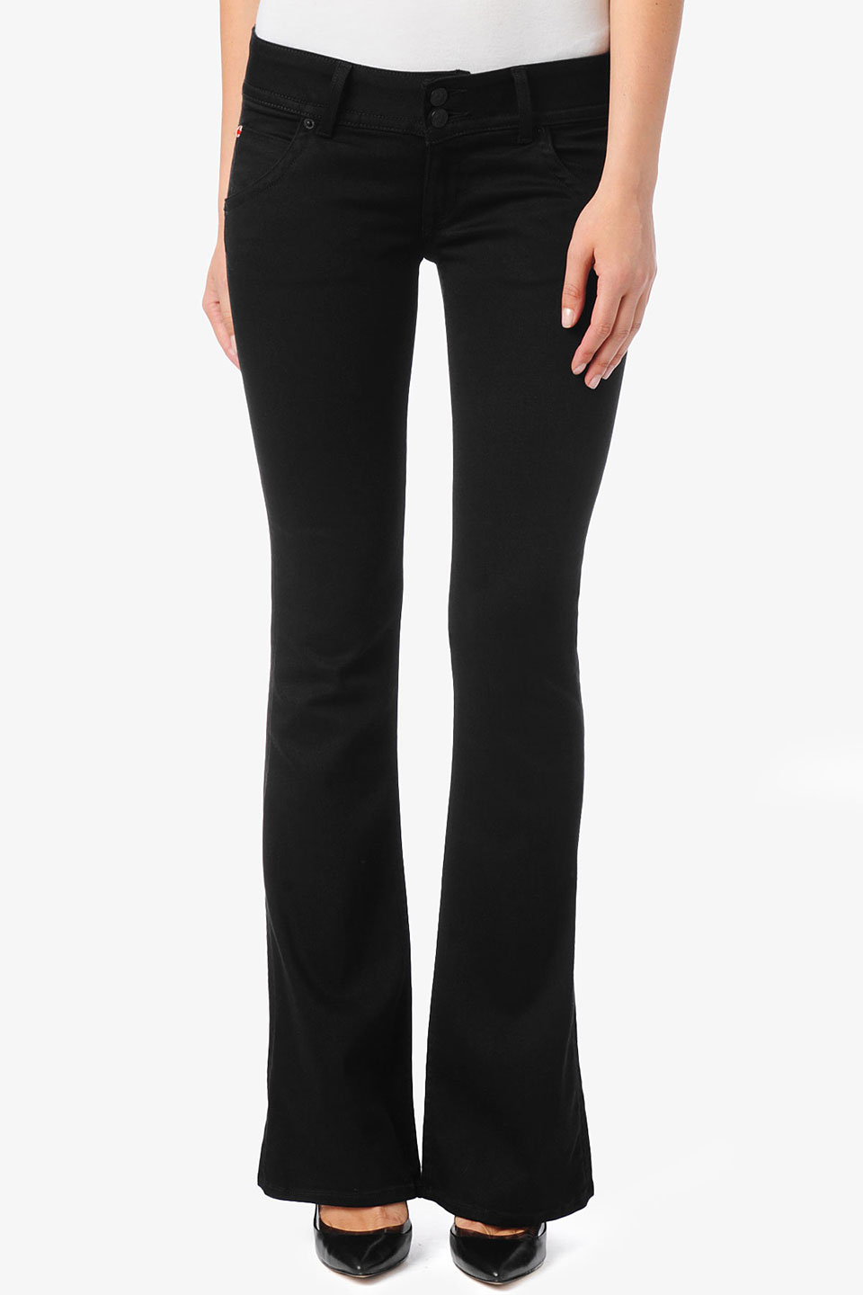 Lyst - Hudson Jeans Signature Bootcut Supermodel in Black