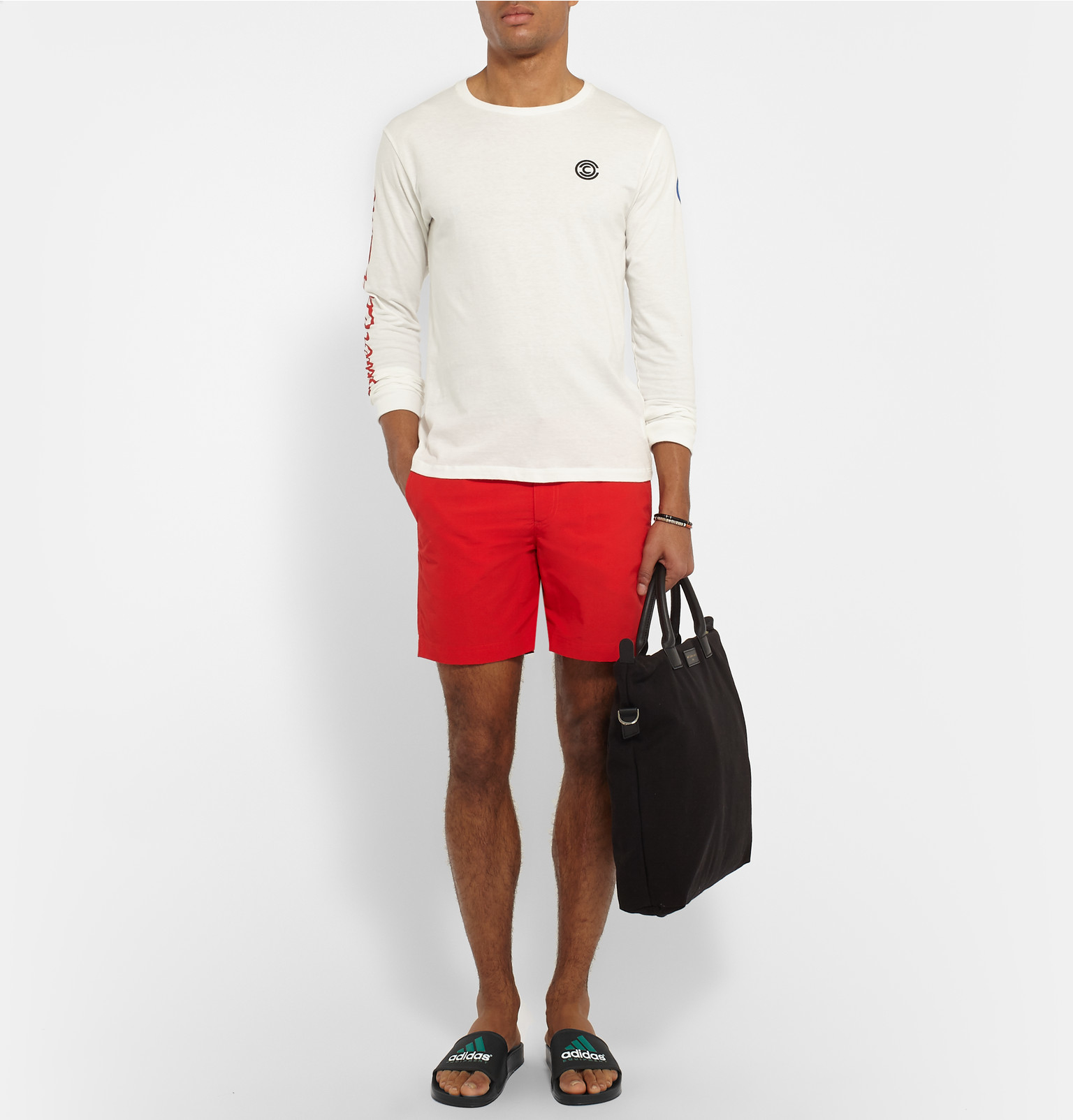 8404bf5717f08 adidas Originals Adilette Rubber Pool Slides in Black for Men - Lyst