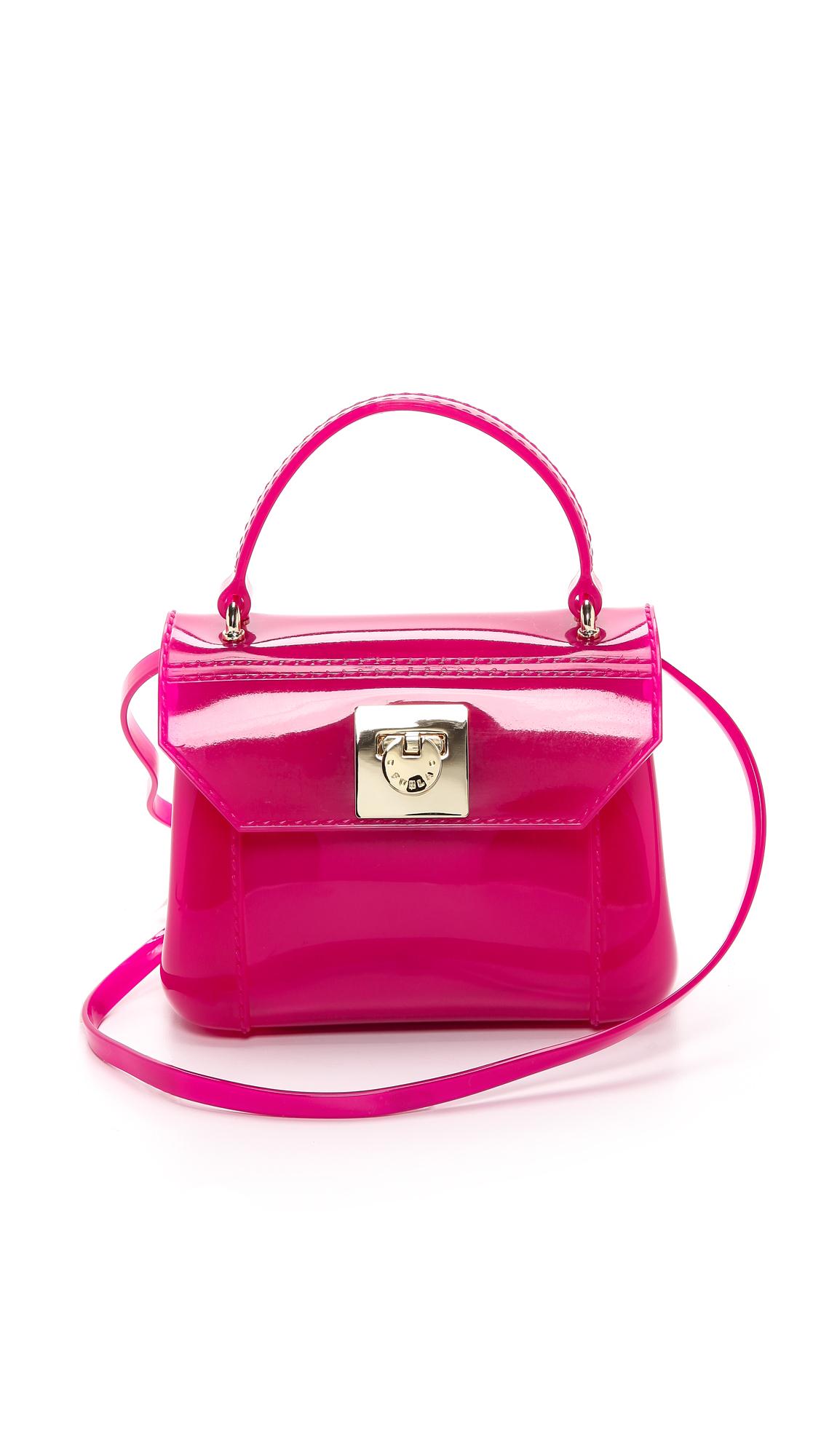 furla mini bon bon bag fruit in pink lyst