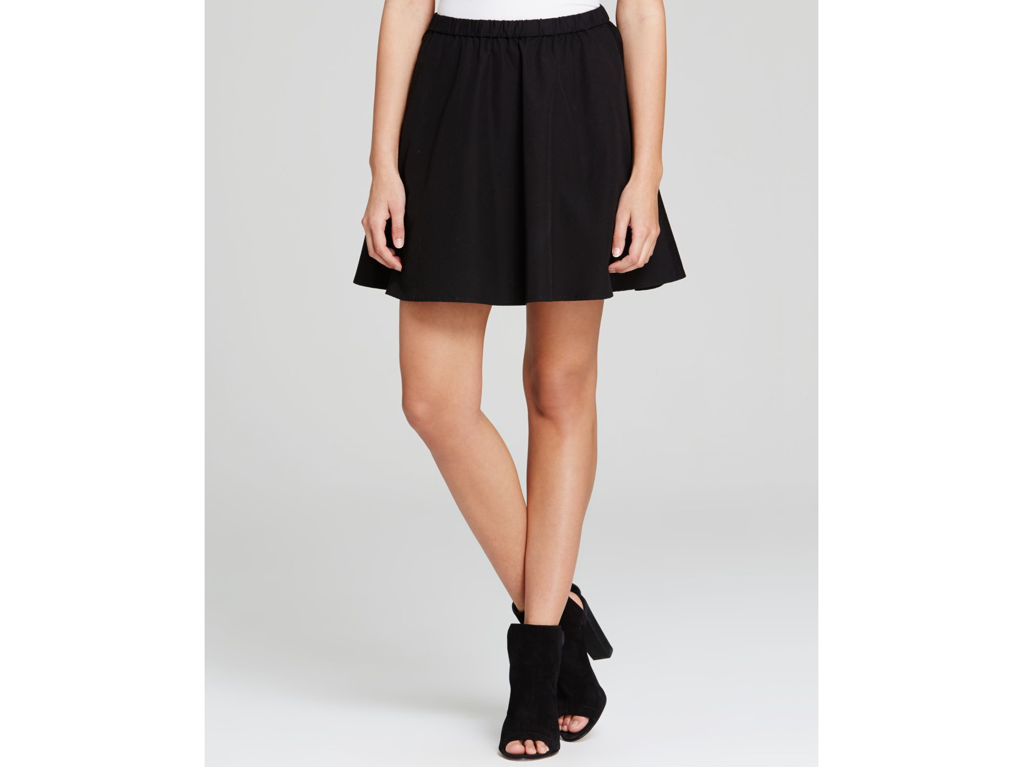 Eileen fisher The Fisher Project Flared Mini Skirt in Black | Lyst