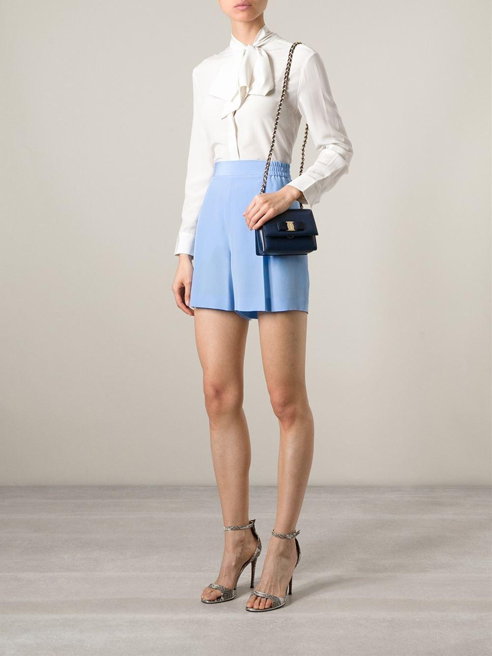 ... buy online 62781 52057 Ferragamo ginny Cross Body Bag in Blue - Lyst ... 2c82e06a69