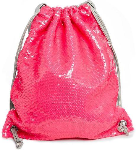 Asos Sequin Pe Drawstring Bag In Pink Lyst