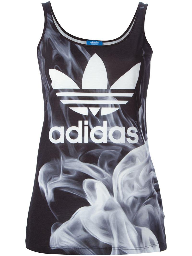 d9f4285ba81 adidas Originals 'smoke' Tank Top in Black - Lyst