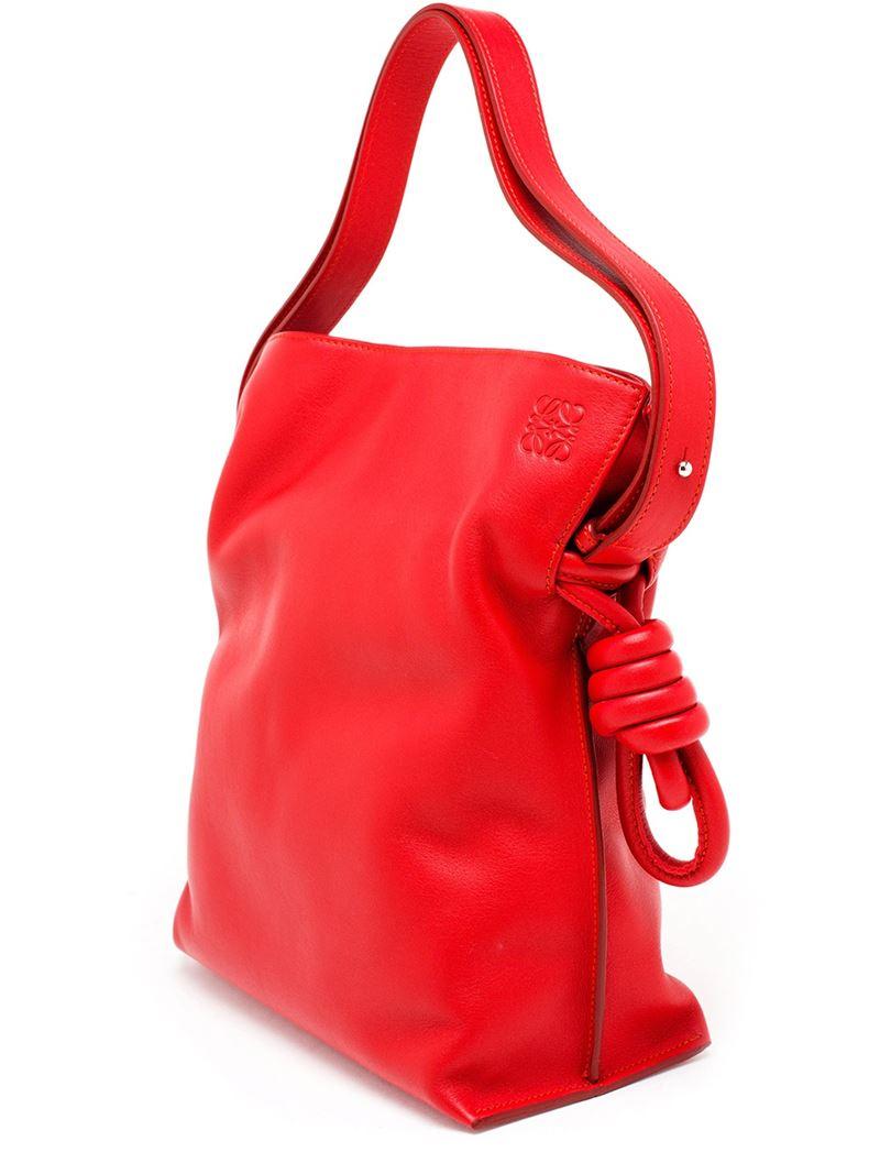 Loewe Leather Flamenco Bag In Red Lyst