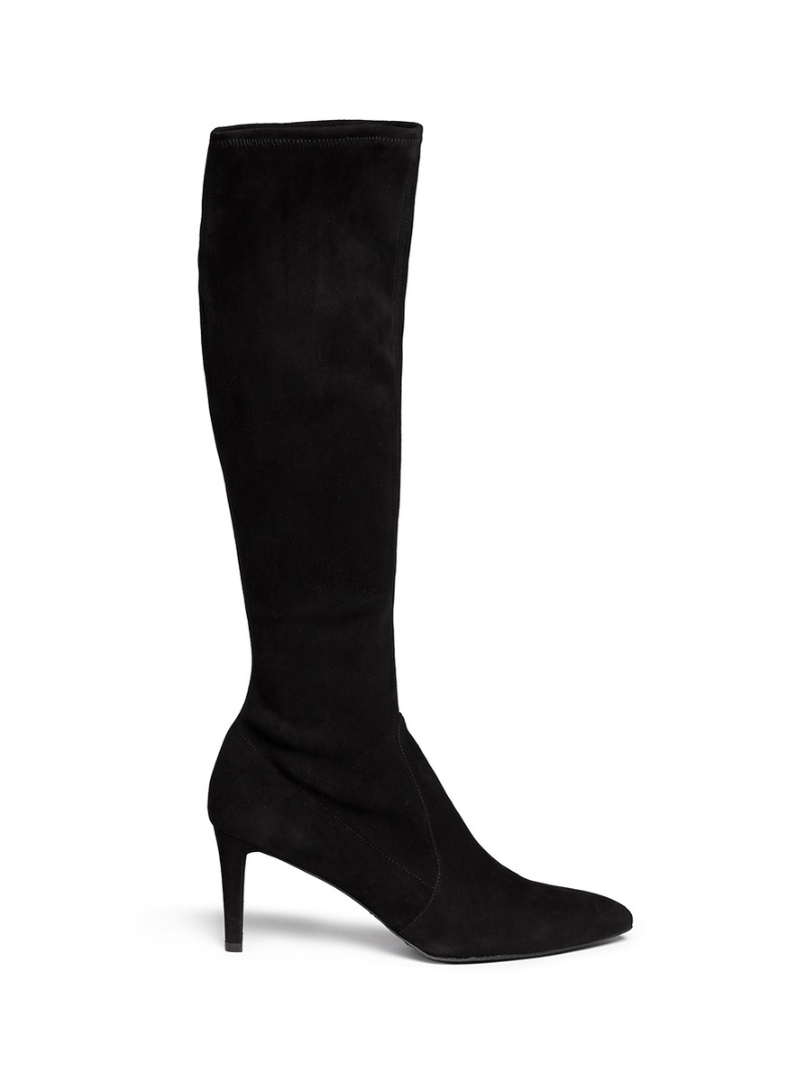878de0a437bf Stuart Weitzman 'cool Boot' Suede Knee High Boots in Black - Lyst