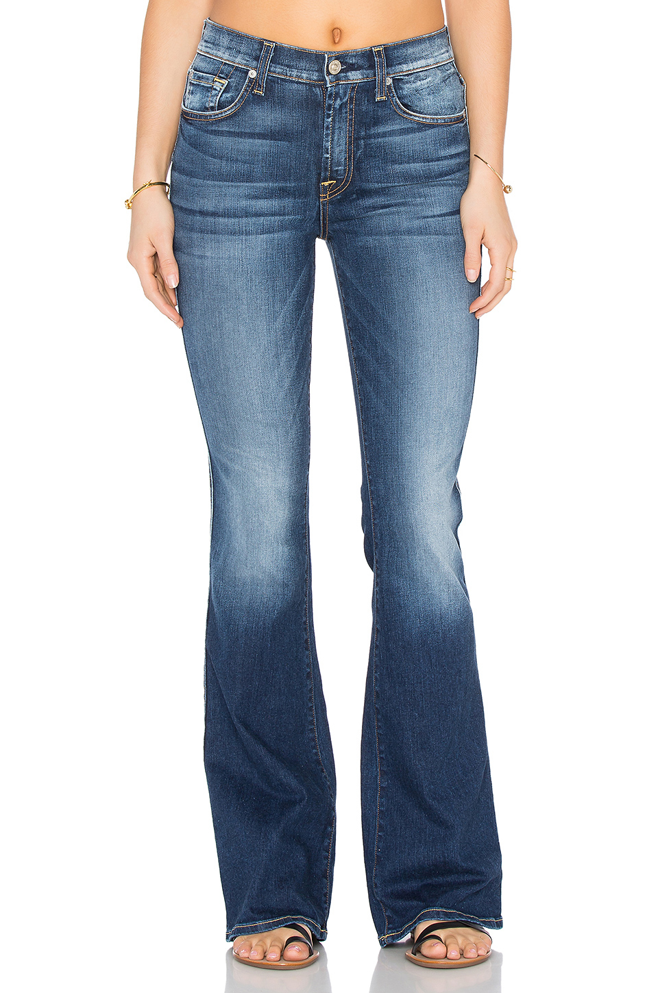 7 for all mankind High Waist Vintage Bootcut in Blue | Lyst