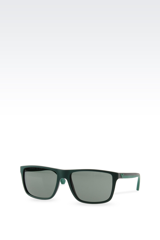 8efc7c81e8a Lyst - Emporio Armani Acetate Sunglasses With Rubber Details in ...