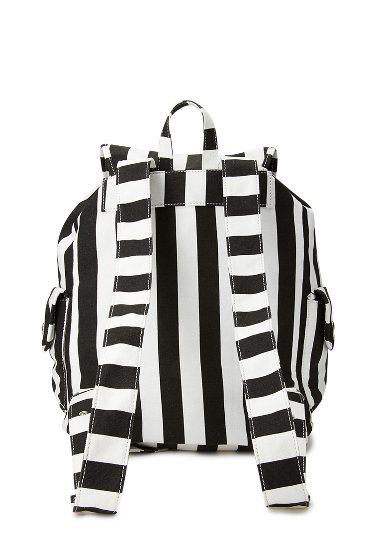 21 Cool Nail Art Ideas: Forever 21 Cool Girl Striped Backpack In Black