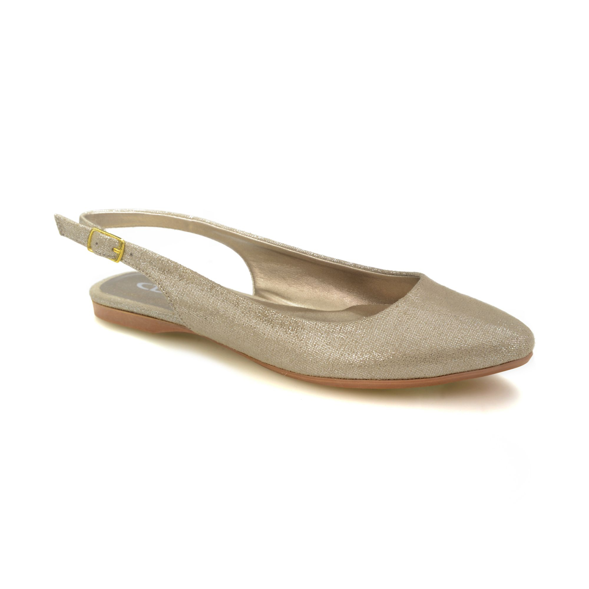 Lyst Chinese Laundry Brilliance Slingback Flats In Metallic