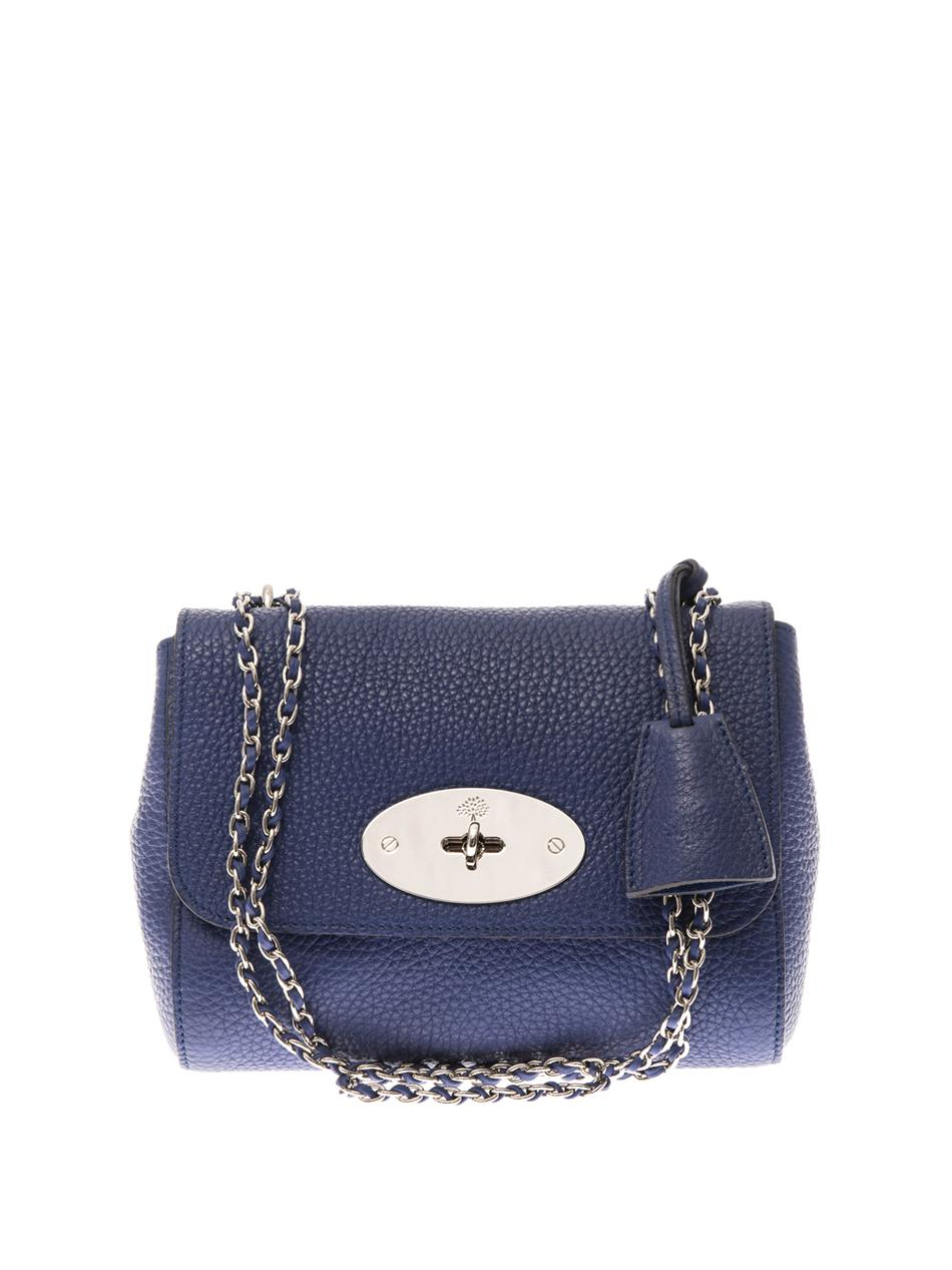 Bag At You Fashion Blog Hip E Bags White Backpack: Mulberry Lily Leather Shoulder Bag In Blue