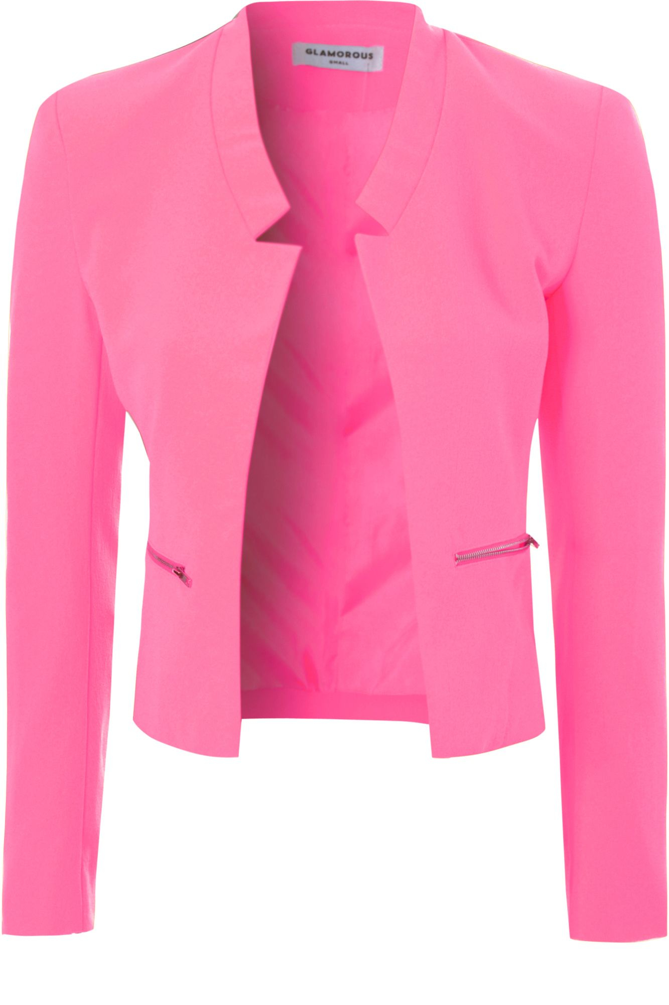 True decadence Cropped Blazer in Pink | Lyst