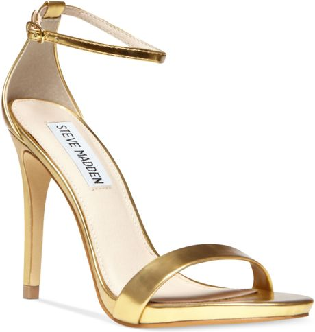 3820d9a5483 Steve Madden Stecy Two Piece Sandals in Gold