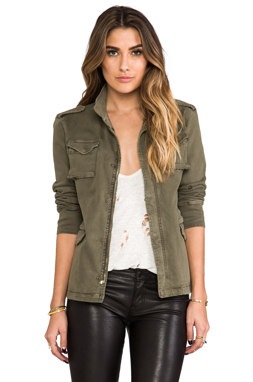 Anine bing Army Jacket in Green | Lyst