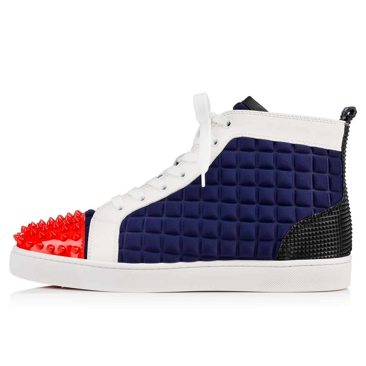 14a7d9a7f4f0 Lyst - Christian Louboutin Lou Spikes Neoprene High-Top Sneakers in ...