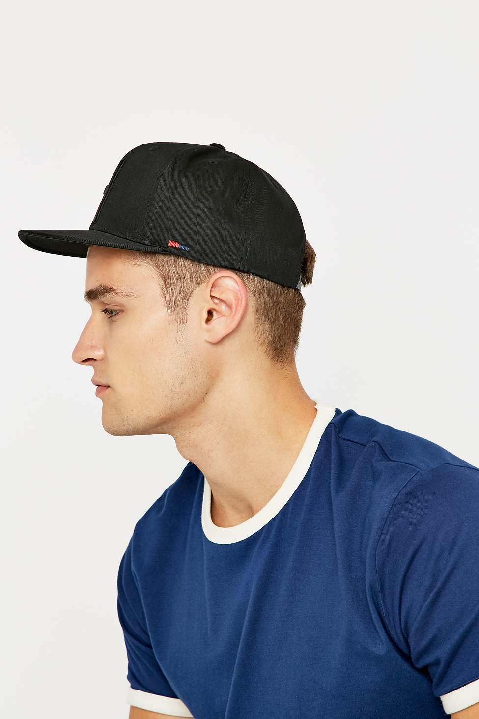 newest 91a5a 97de4 ... czech herschel supply co. toby black snapback cap in black for men lyst  7df78 bb42a