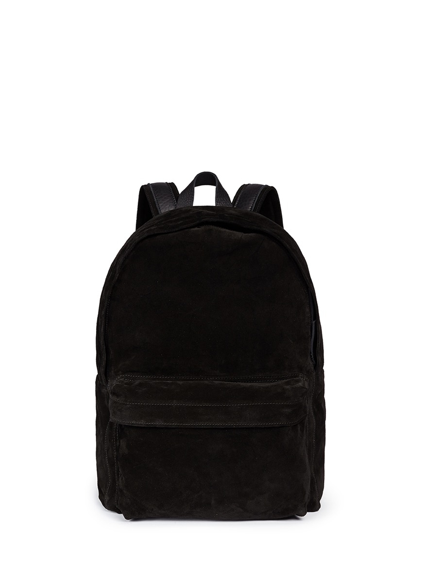 Ann demeulemeester Suede Backpack in Black for Men | Lyst