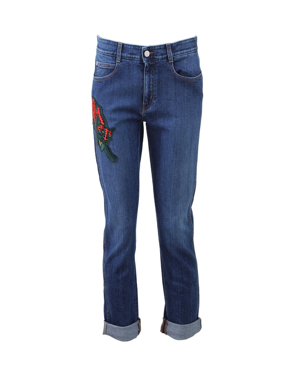 Stella mccartney puma embroidered boyfriend jean in blue