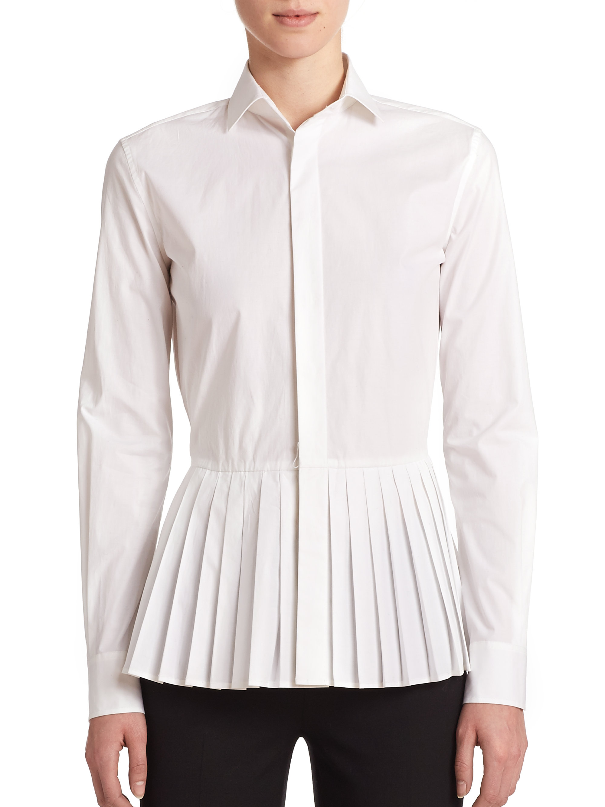 ralph lauren white cotton blouse silk pintuck blouse. Black Bedroom Furniture Sets. Home Design Ideas
