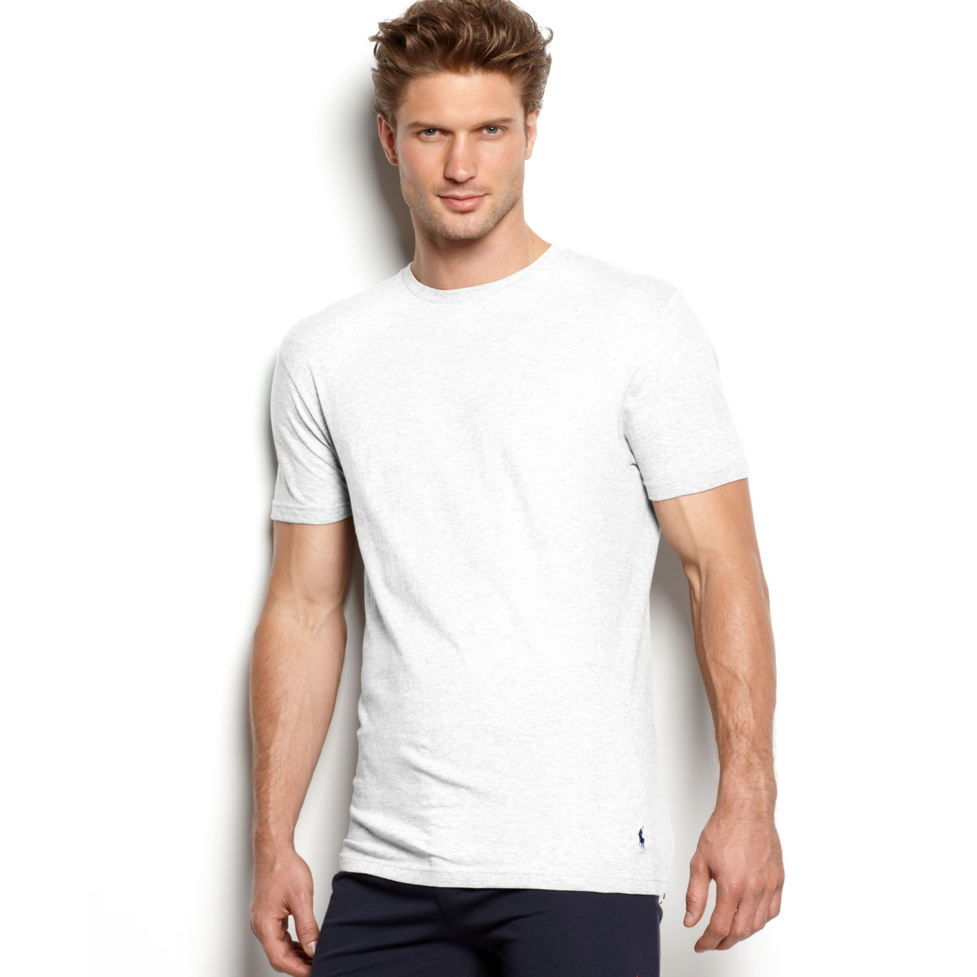 Ralph Lauren Celebrity Crew Neck Tshirt 3 Pack in White ...