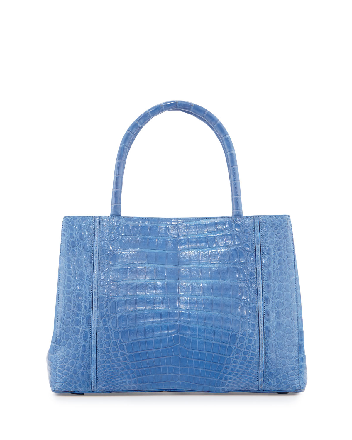 Nancy gonzalez small sectional crocodile tote bag in blue for Nancy gonzalez crocodile tote