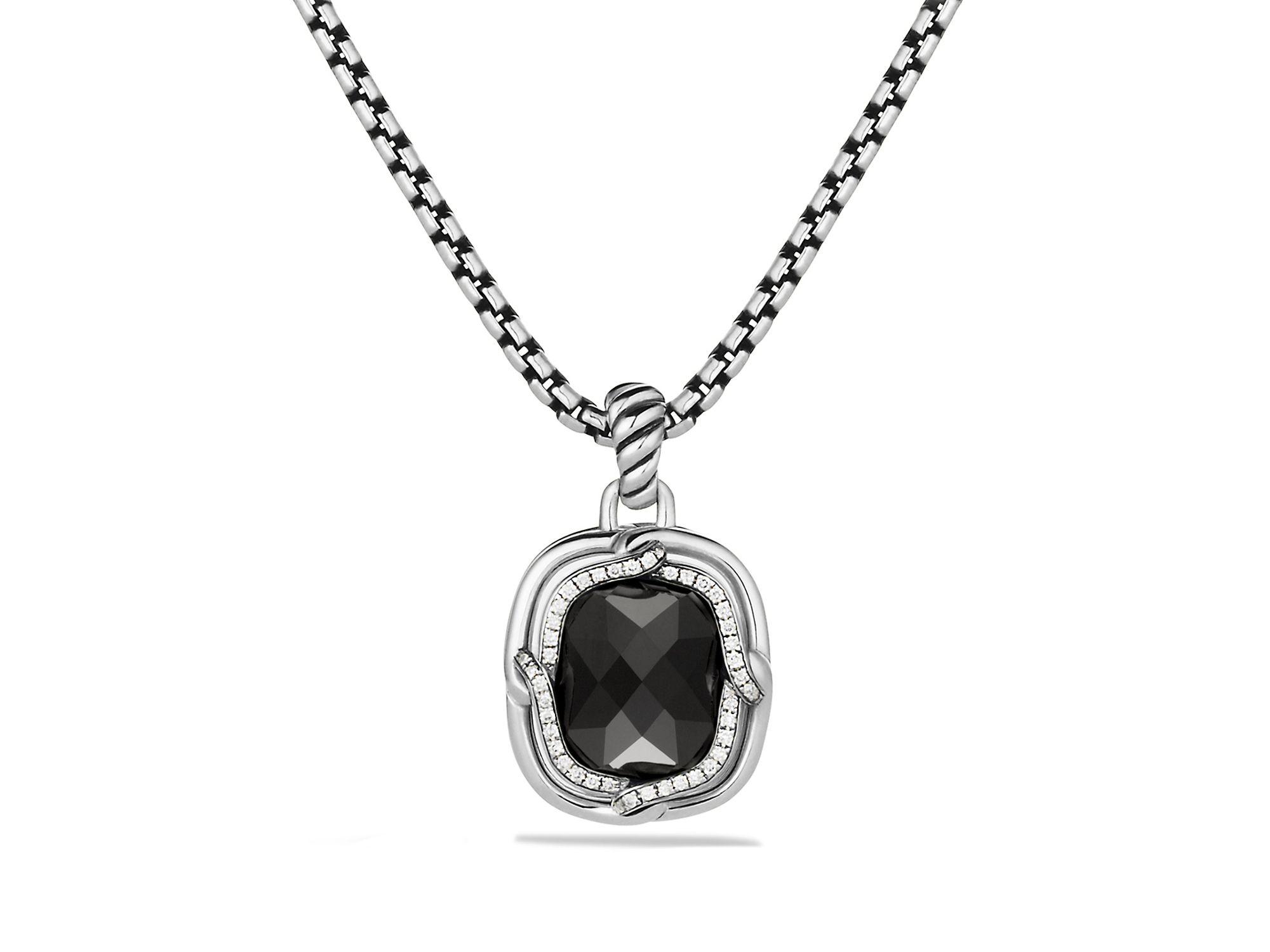 Lyst david yurman labyrinth small pendant with black onyx in black gallery aloadofball Gallery