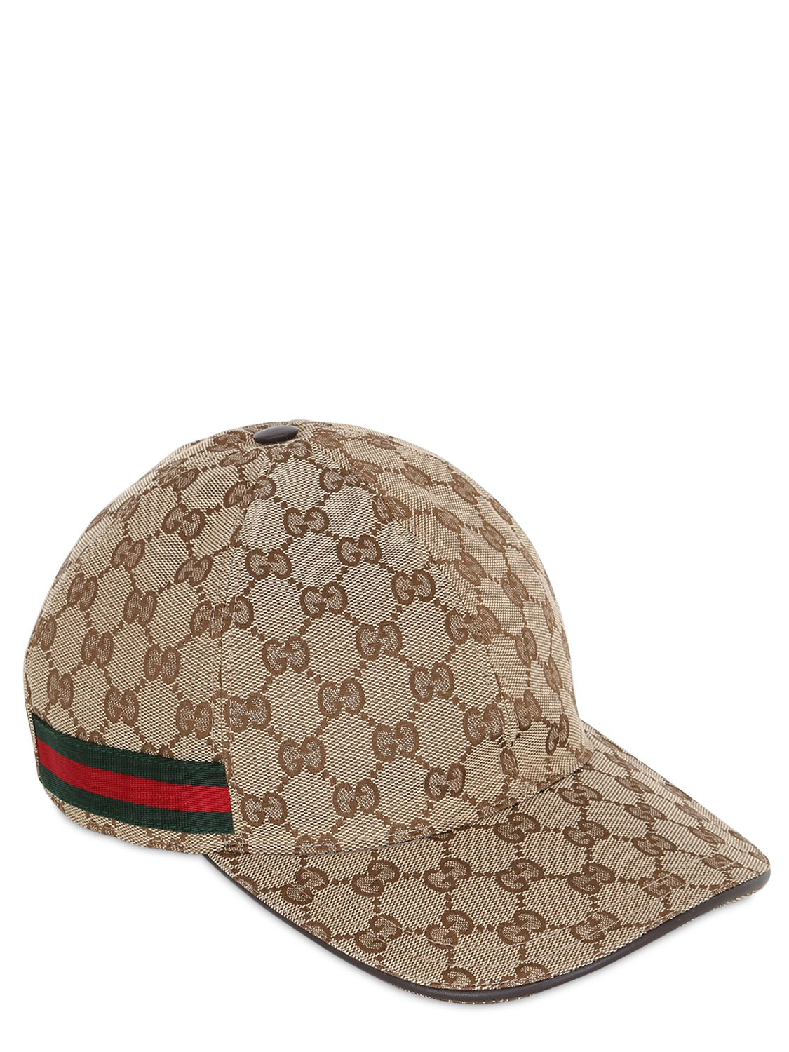 9459aa5c6fe Lyst - Gucci Web   Gg Jacquard Baseball Hat in Natural for Men