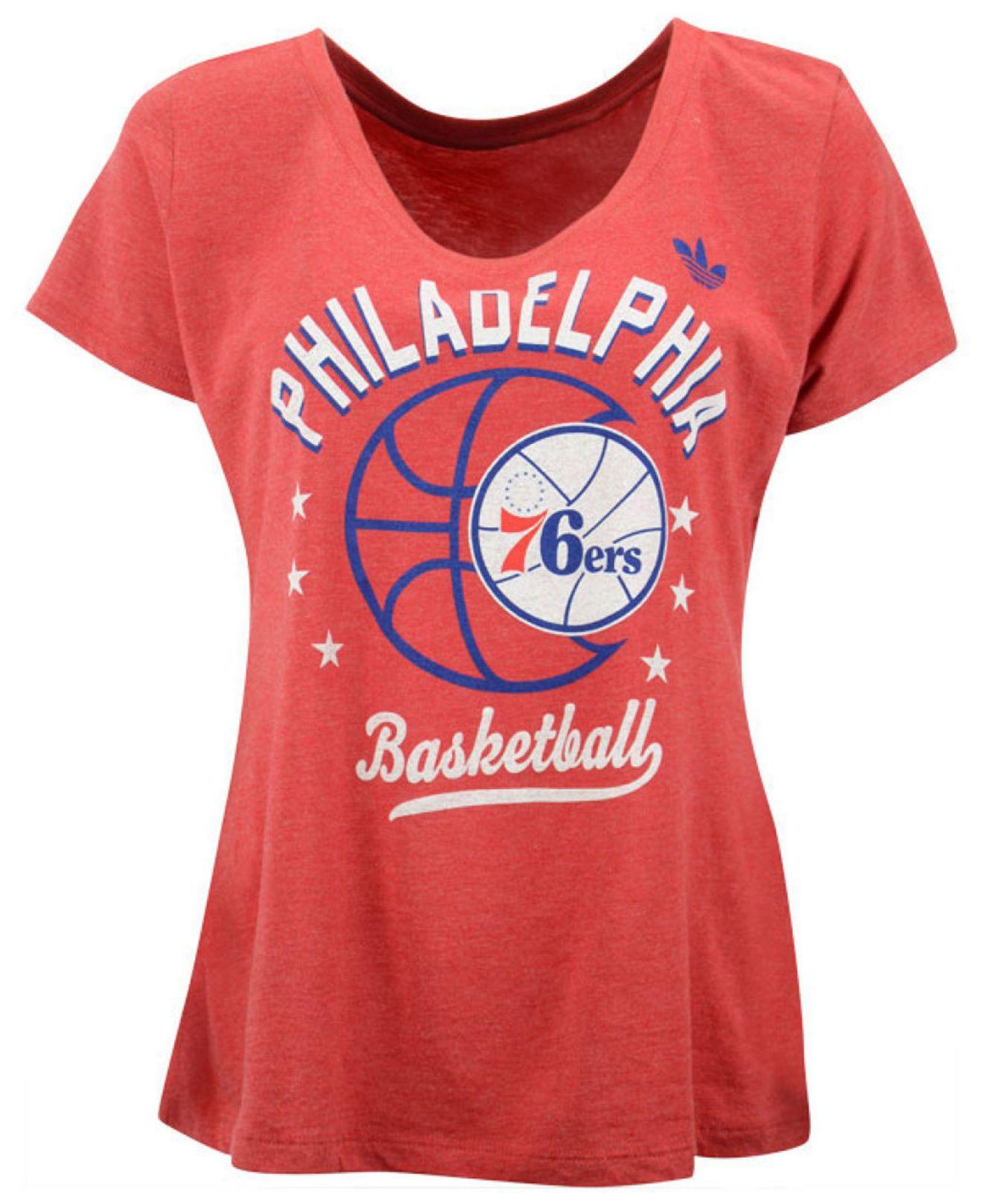 Lyst - Adidas Originals Women s Philadelphia 76ers Basketball Scoop ... e7641ddbd