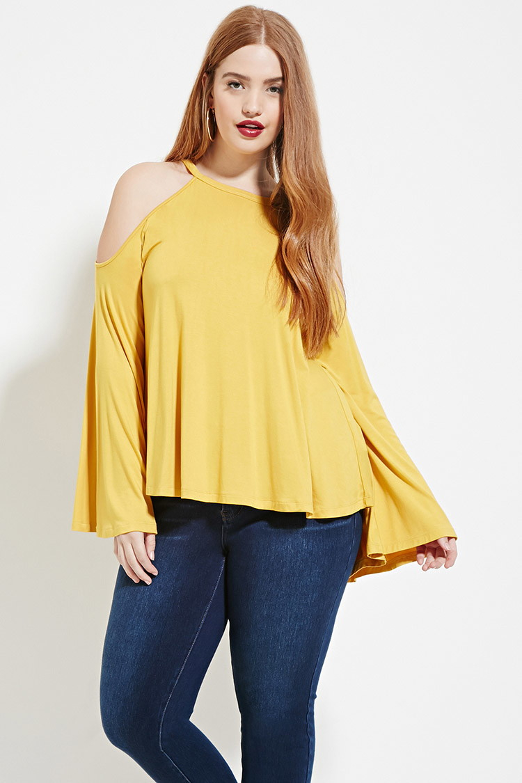 84f92fd6b76 Mustard Yellow Plus Size Shirt