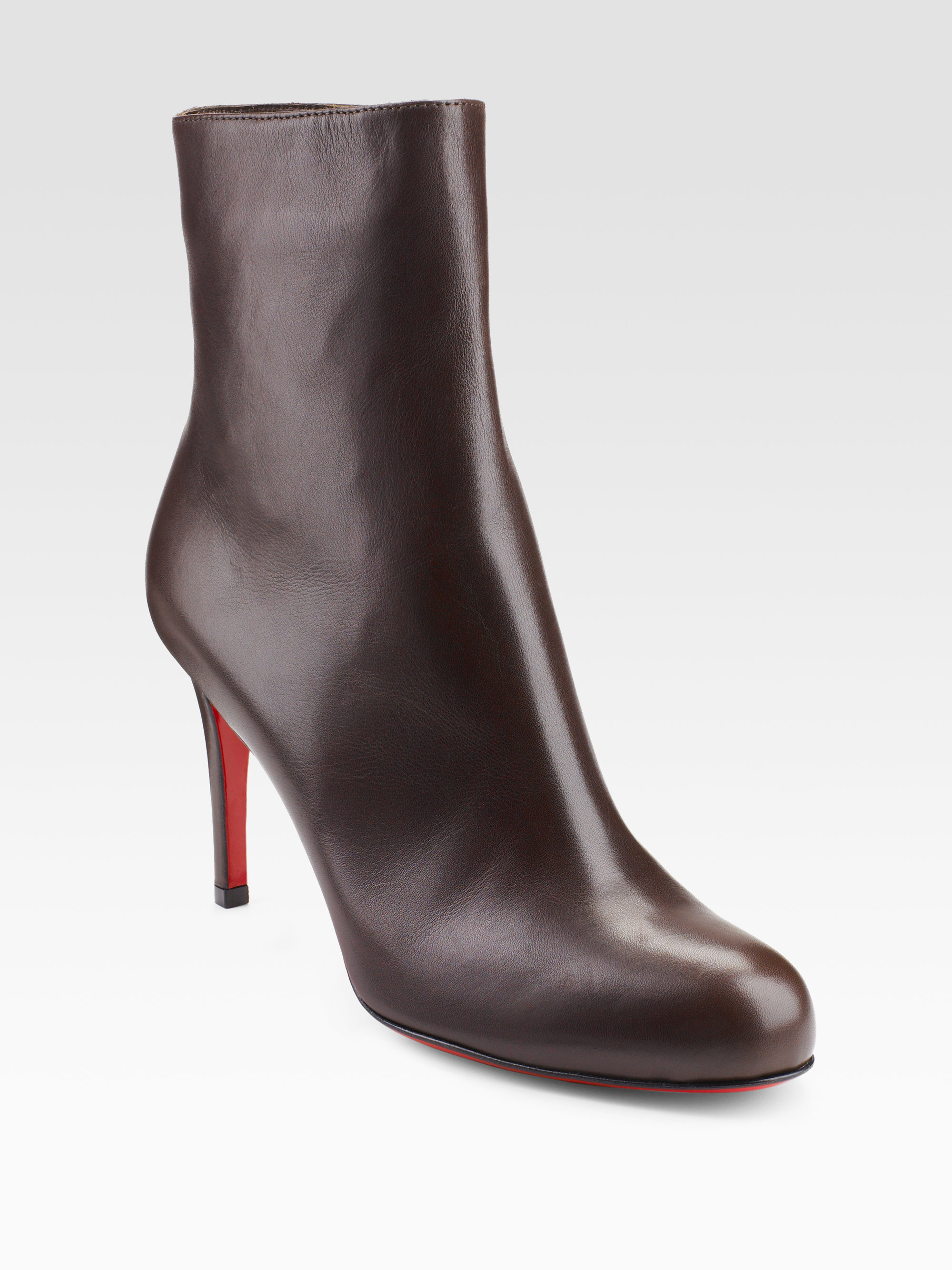 fake christian louboutin shoes for sale - christian louboutin n\u003dankle botos Brown leather stiletto heels ...