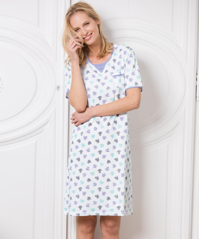DAMART Printed Nightdress - Lyst 57177b2c9