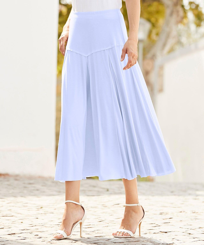 f49a746e334 DAMART Jersey Panelled Skirt in Blue - Lyst