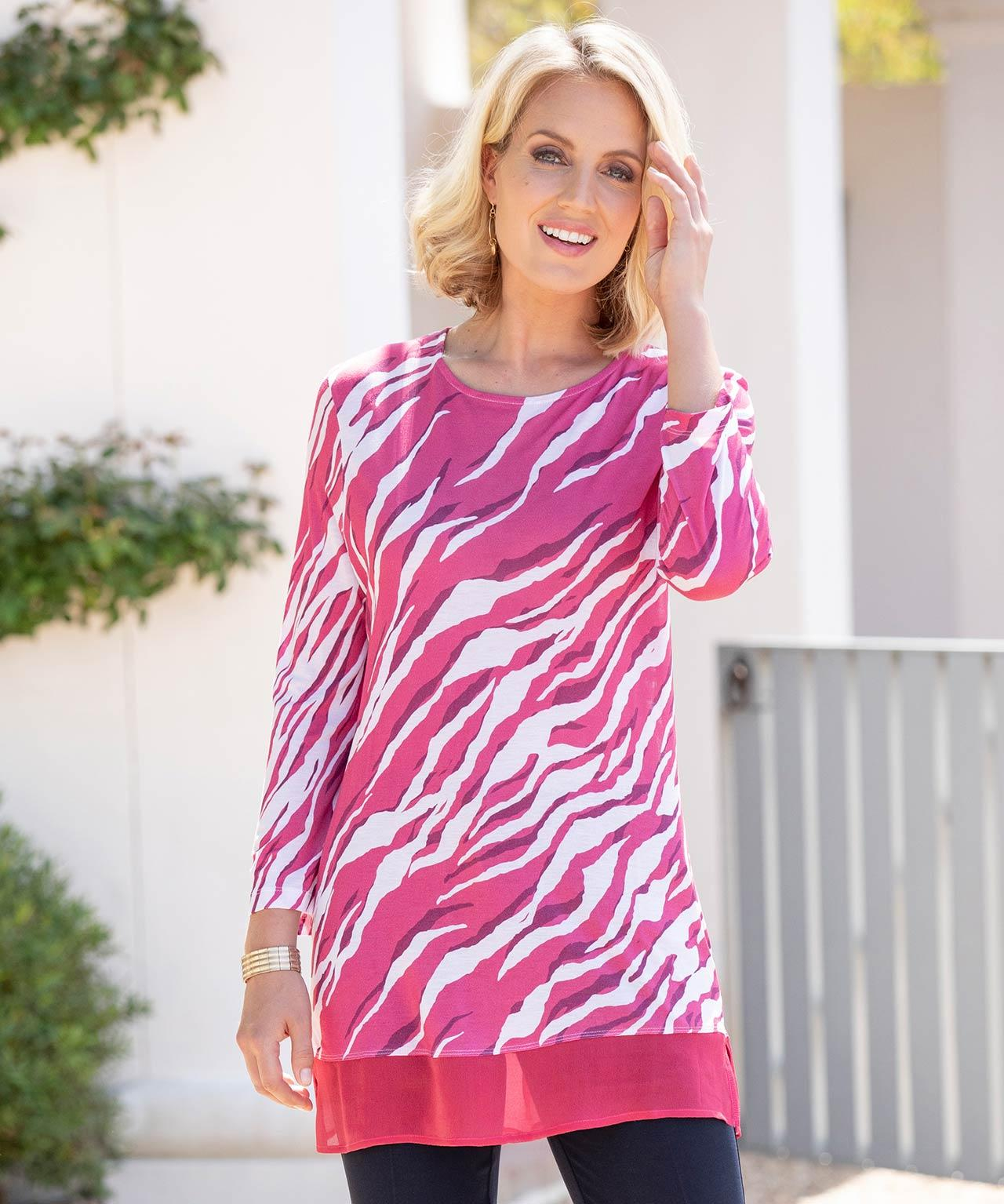 be60ef28eb DAMART Printed Tunic in Pink - Lyst