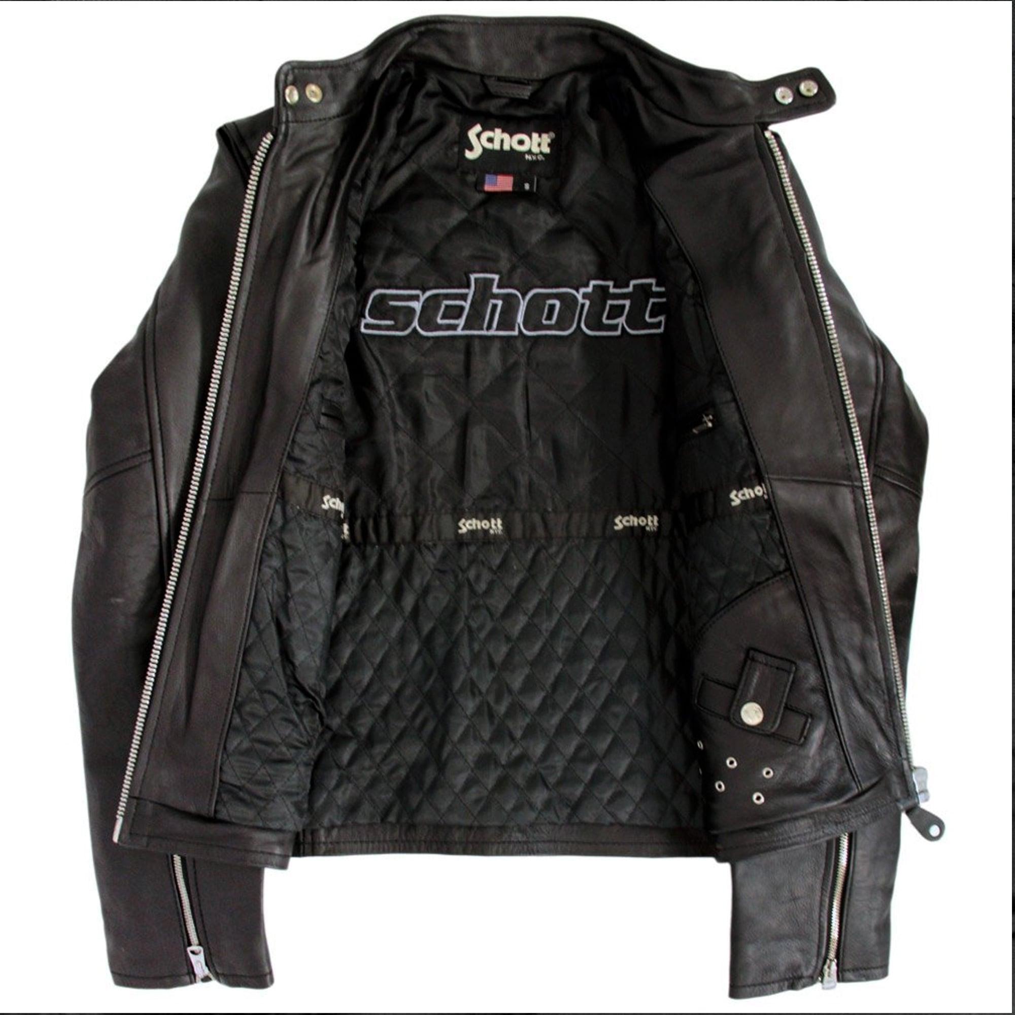 schott nyc jackets scht lc940d blk racer for men lyst. Black Bedroom Furniture Sets. Home Design Ideas