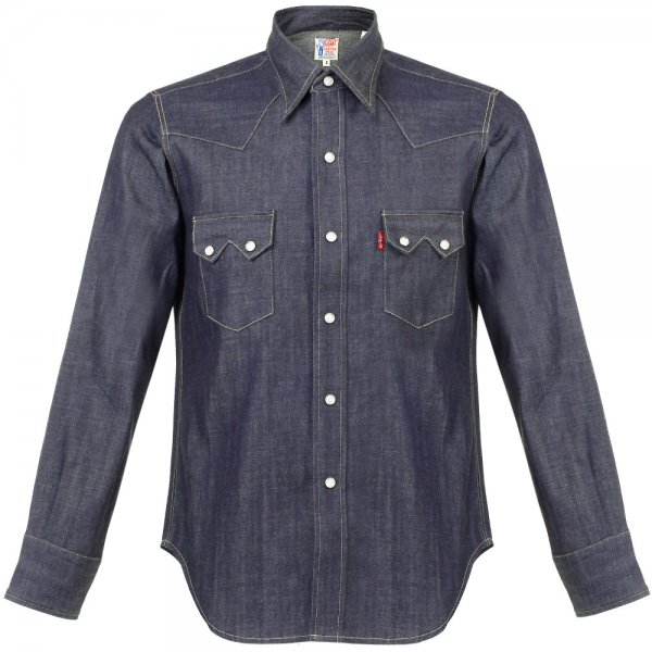 Lyst levi 39 s levi 39 s vintage 1955 sawtooth denim shirt for Levis vintage denim shirt 1950 sawtooth slim fit