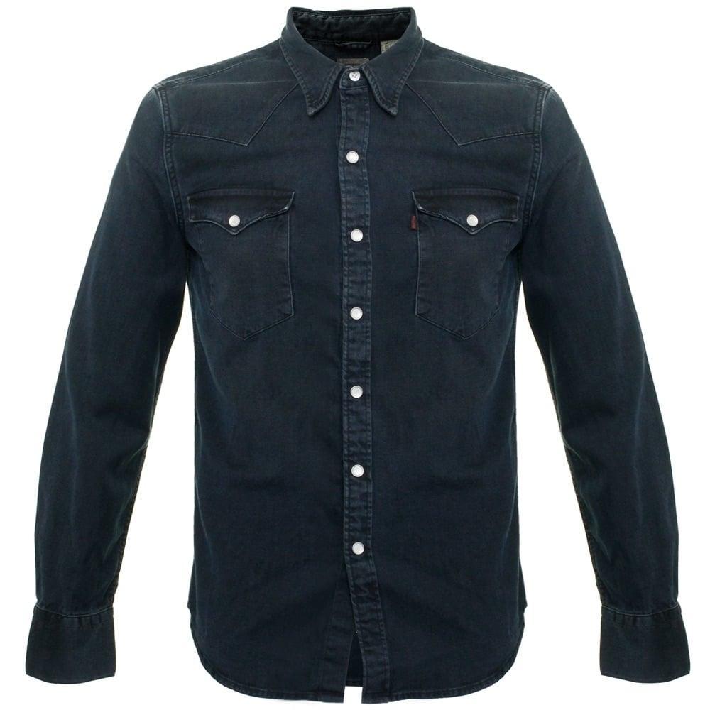 lyst levi 39 s levi 39 s barstow smokey denim shirt 65816 0171. Black Bedroom Furniture Sets. Home Design Ideas