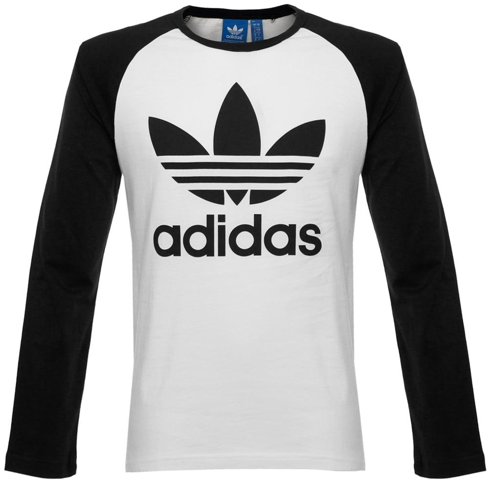 Adidas originals Trefoil Ls White T-Shirt Ay7804 in White ...