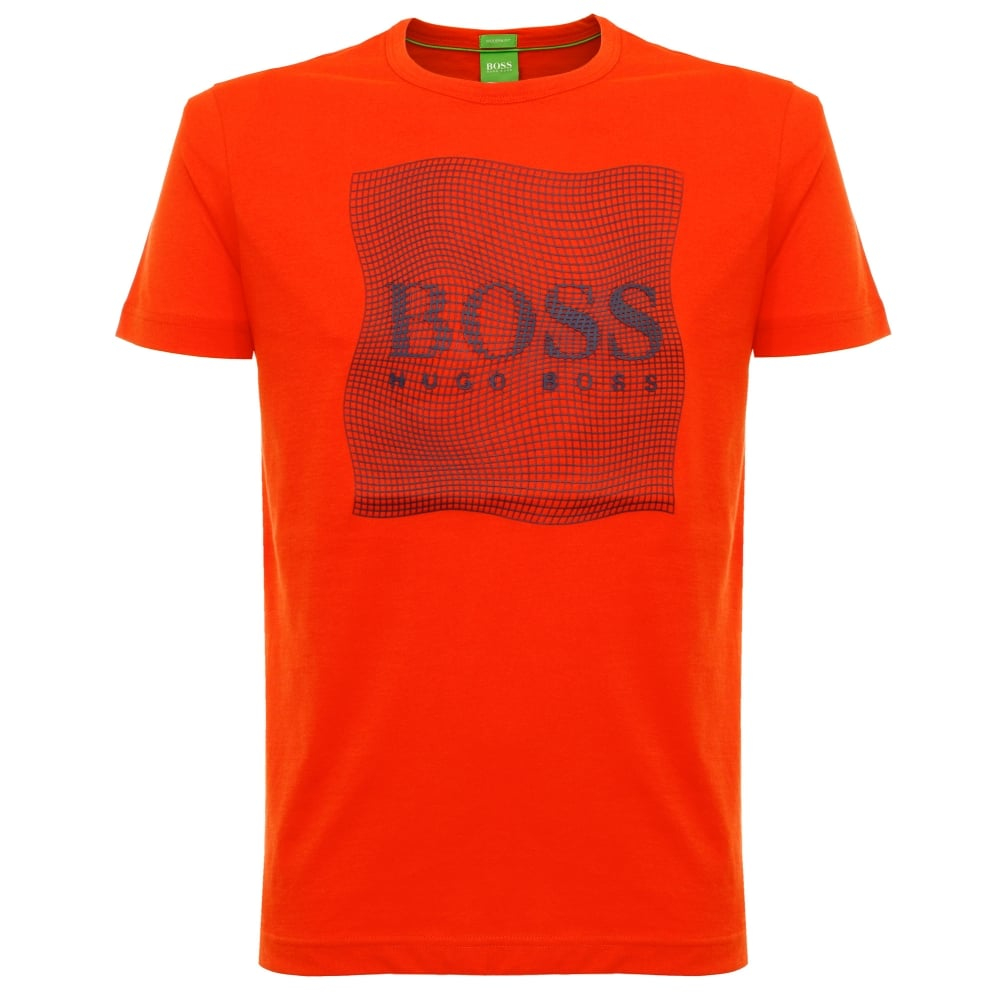 boss green tee 8 dark orange t shirt 50319815 in green for. Black Bedroom Furniture Sets. Home Design Ideas