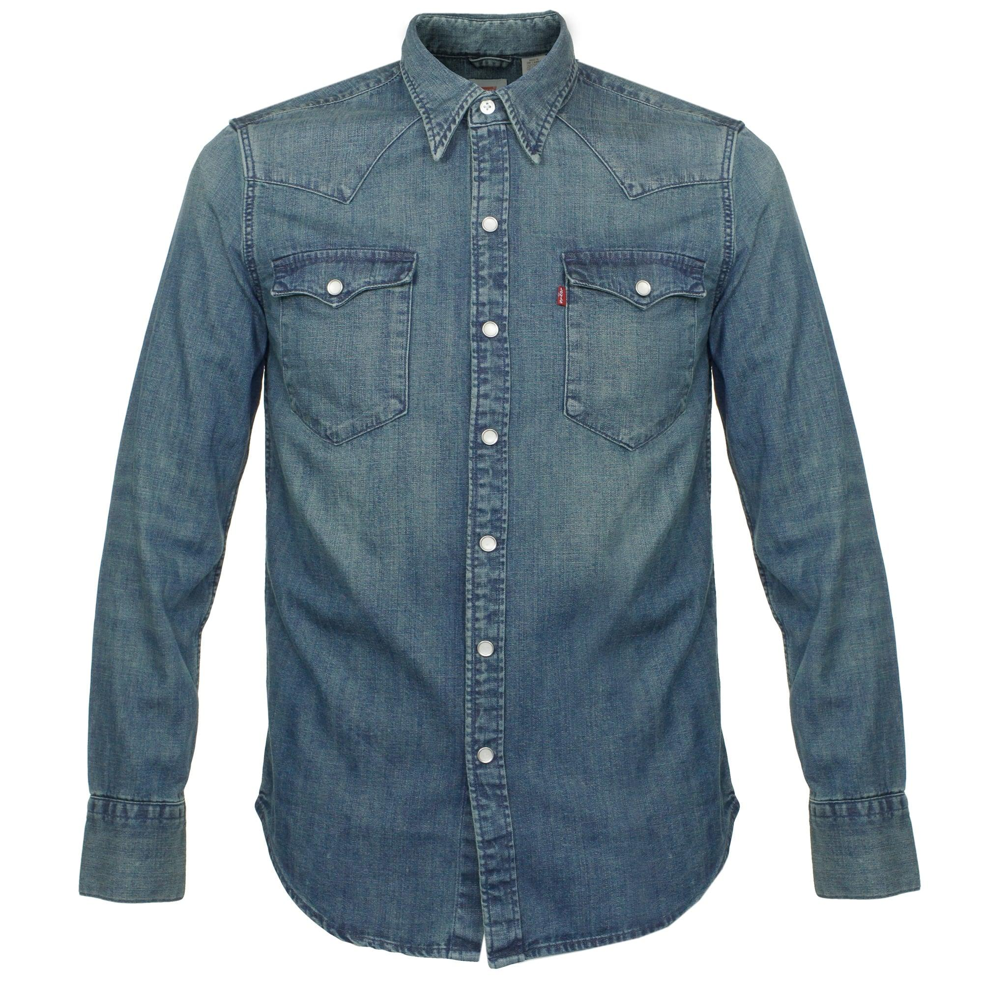 Guess Denim Shirt Men