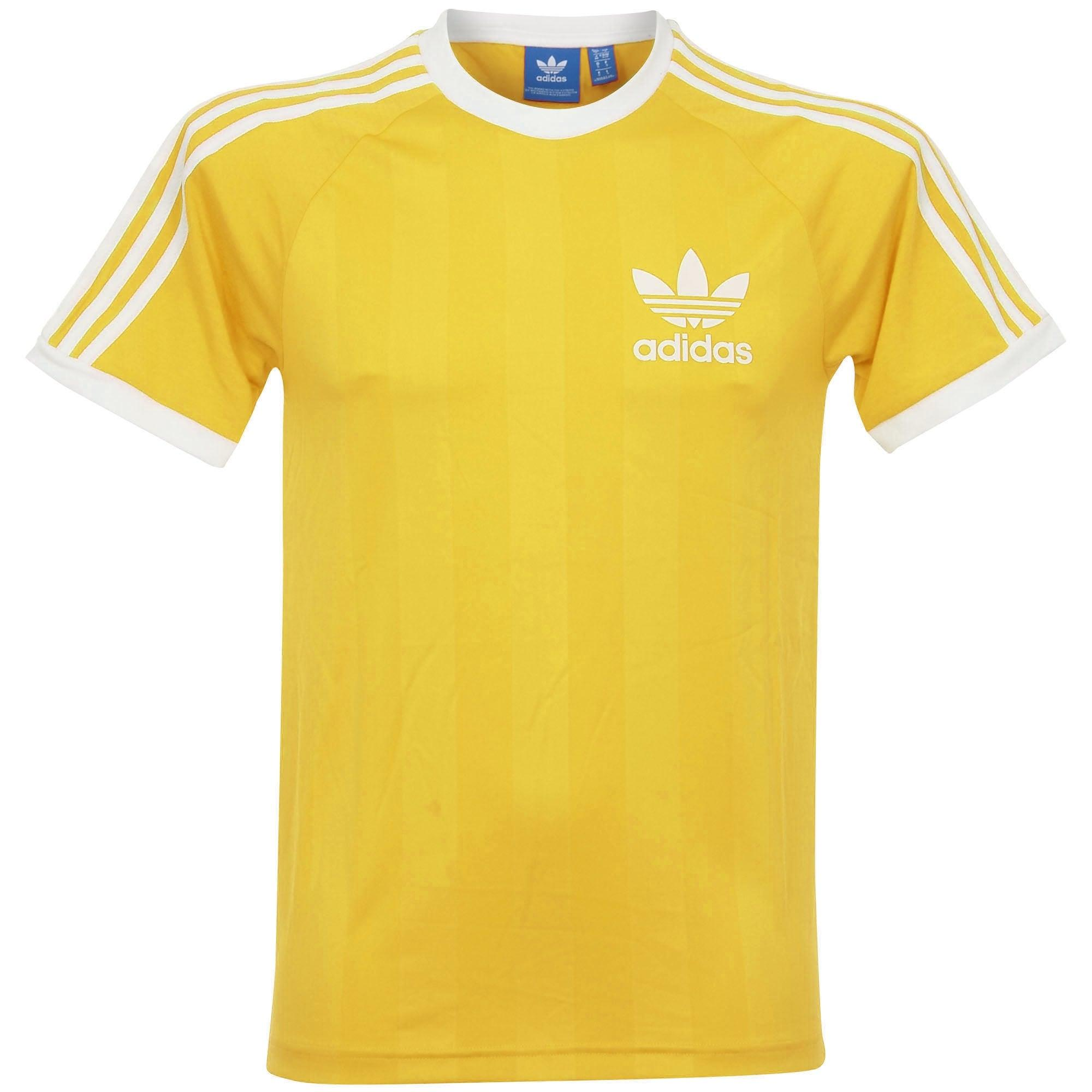 Lyst adidas originals adidas clfn tee yellow t shirt for Adidas lotus t shirt