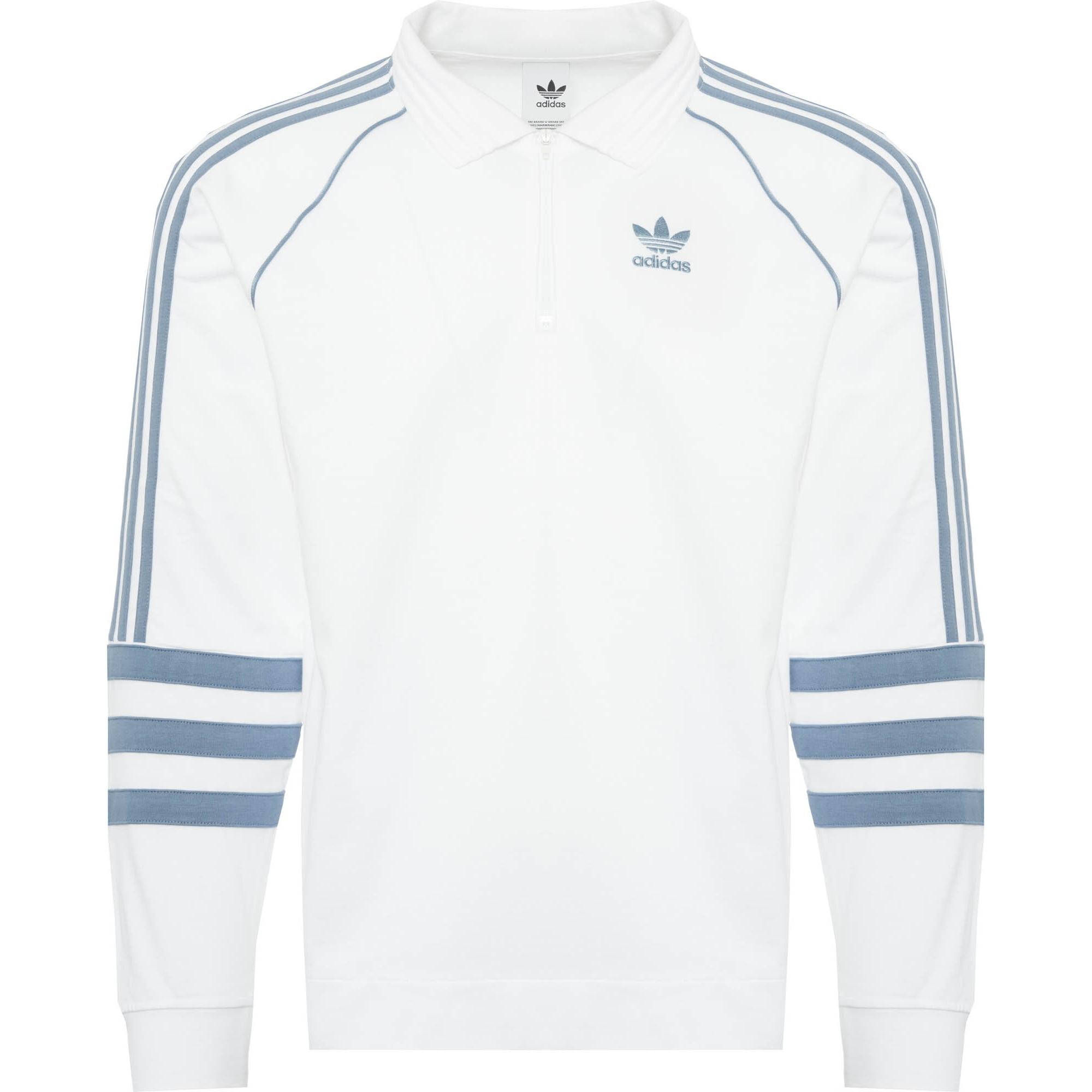 f332aef7b79 Adidas Originals Authentic Rugby Jersey in Blue for Men - Lyst