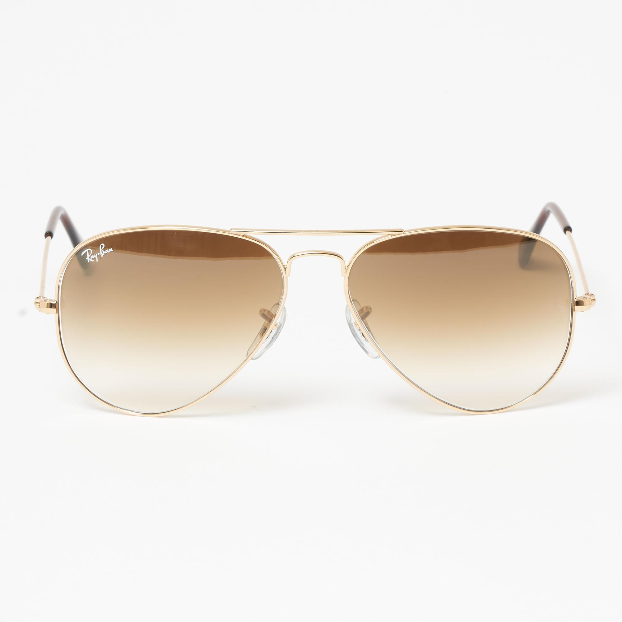 dc6e0e47112 ... good ray ban aviator gradient sunglasses light brown gradient lenses  lyst. view fullscreen b52e4 96468